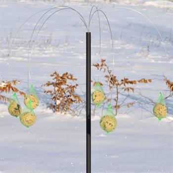 Station à boules de graisse pour mésanges, design danois, Pælme, un palmier devant votre maison