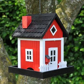 Maison / Mangeoire pour oiseaux Skagen, rouge
