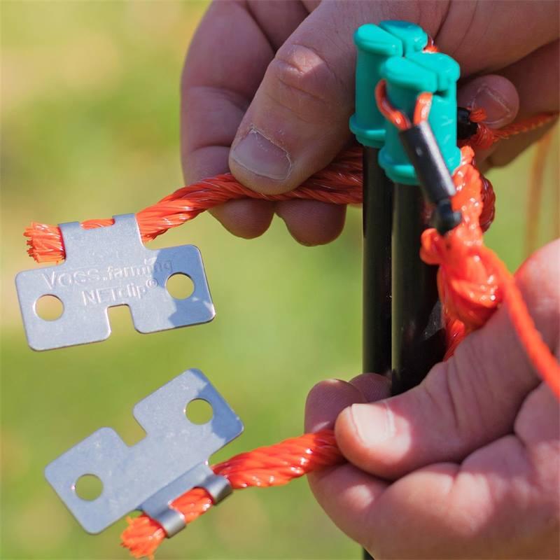 Hauteur : 90 cm Pointe Unique ou Pointe Double Cl/ôture pour Moutons 14 Piquets Cl/ôture /Électrique VOSS.farming Longueur : 50 m