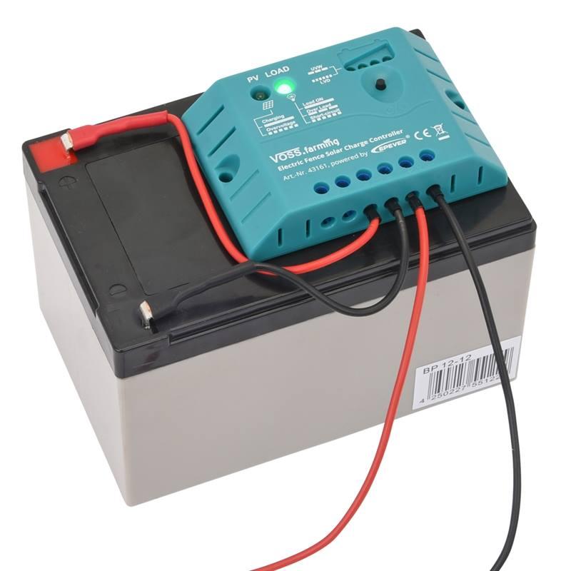Kit Complet De Cloture Electrique Kappa 7 Solar De Voss Farming Batterie 12v Panneau Solaire 12w