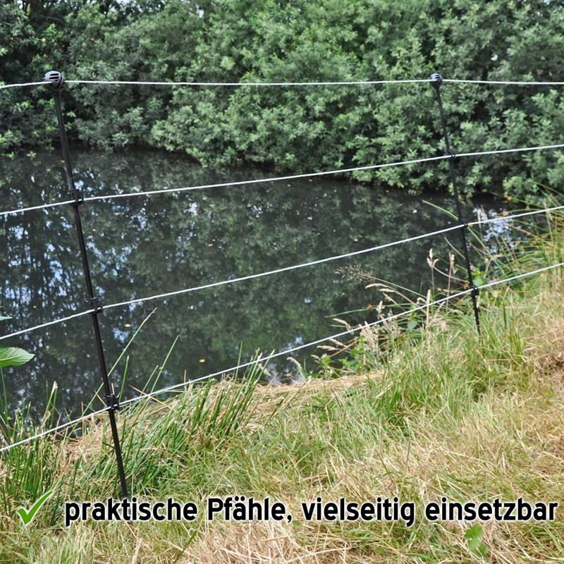 10 x piquets en fibre de verre de 110 cm, piquet de jardin pour animaux  domestiques, lapins, etc.