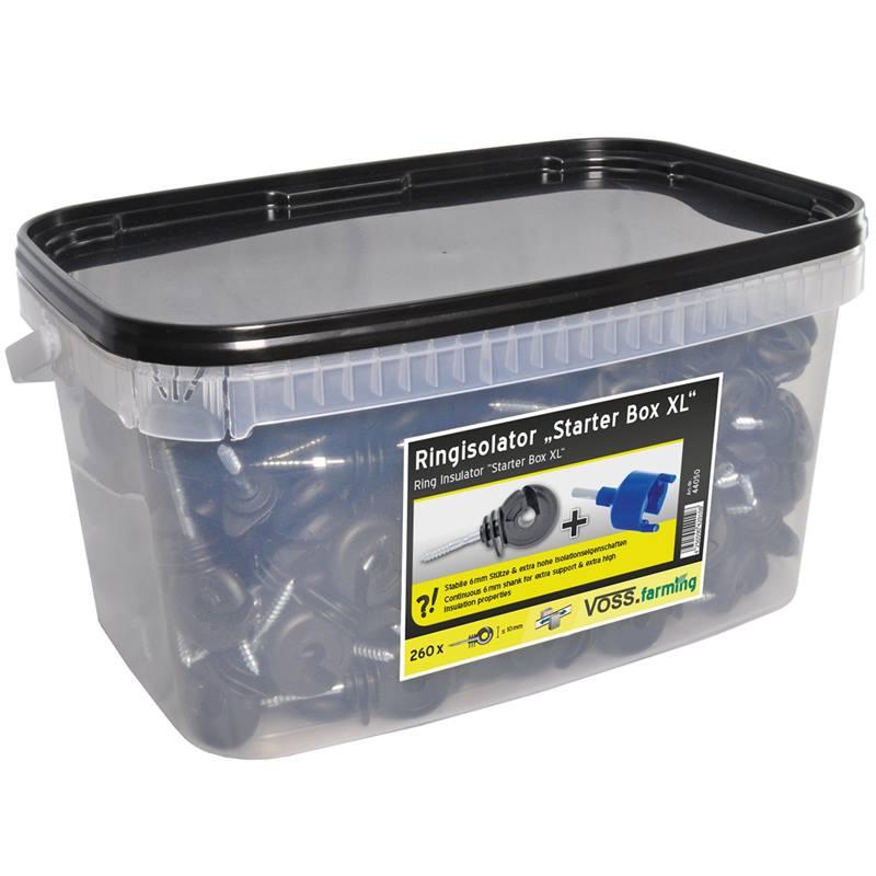 44050-2-starter-box-xl-de-voss-farming-260-x-isolateurs-annulaires-visseur-panneau-de-signalisation.