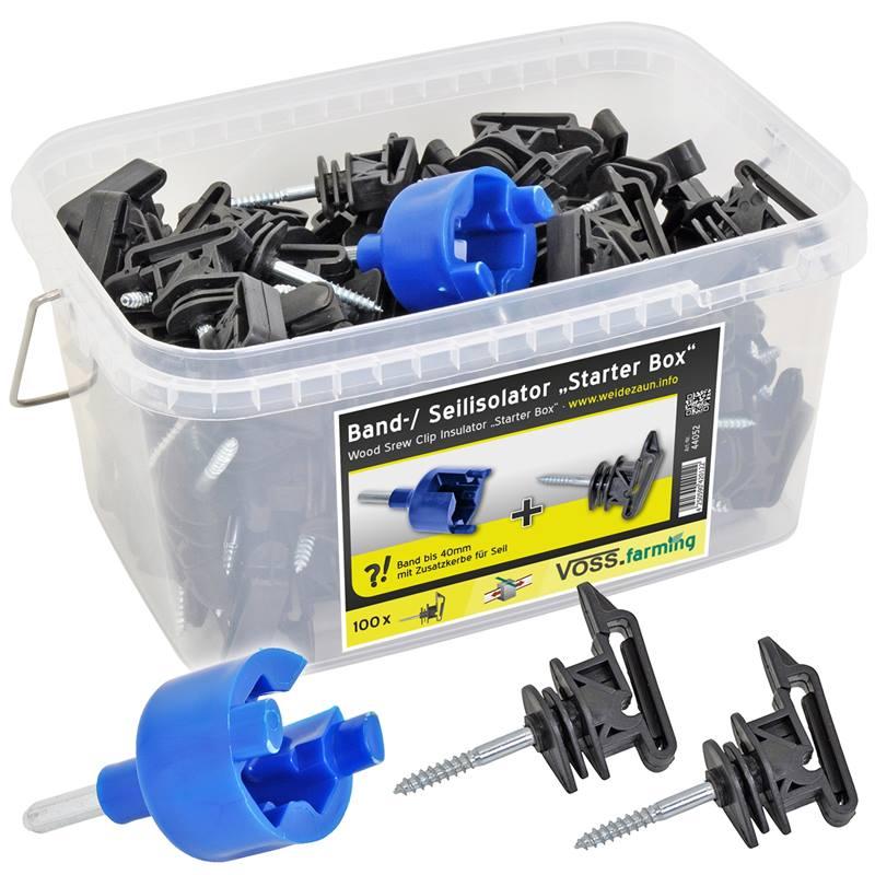 44052-1-100-x-isolateurs-de-ruban-et-de-cordelette-de-cloture-electrique-starter-box-de-voss-farming
