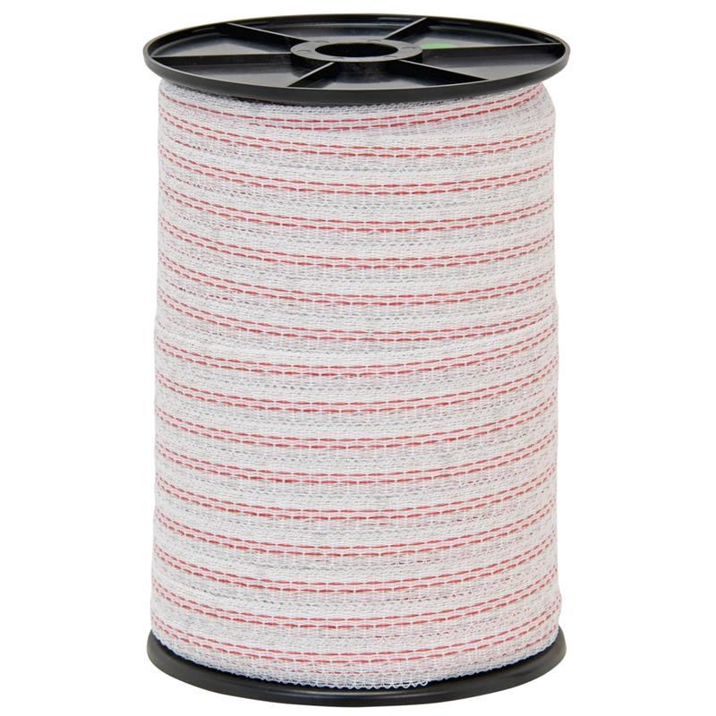 44564-2-ruban-de-cloture-electrique-200-m-10-mm-1-x-0-3-cuivre-3-x-0-2-acier-inoxydable-blanc-rouge-