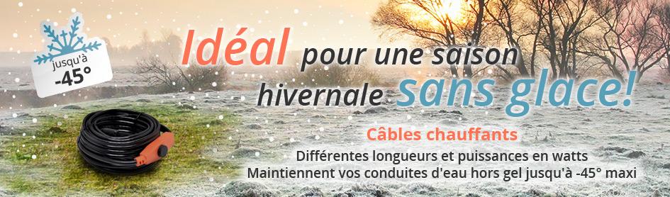 Câbles chauffants & accessoires